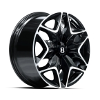 "Kahn Split 6 Sort/poleret 22""(SP6952GB01)"