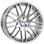 "TEC-Speedwheels GT1 Brilliant sølv 17""(8017as198-02)"