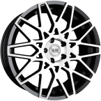 "TEC-Speedwheels GT4 Sort/poleret 18""(8518as245)"
