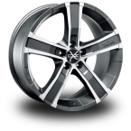 "OZ Sahara 5 MATT GRAPHITE DIAMOND CUT 17""(W85061201N5)"