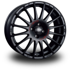 "OZ Superturismo GT Black MATT BLACK RED LETTERING 16""(W0167005179)"