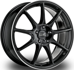 "OZ Veloce GT GLOSS BLACK+DIAMOND LIP+SILVER LETTERING 17""(W01983201D4)"