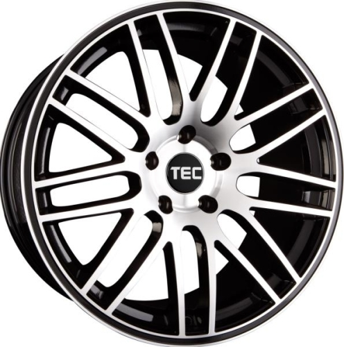 TEC-Speedwheels GT1 Sort/poleret 17""