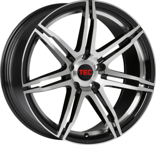 TEC-Speedwheels GT2-EVO Sort/poleret 17""