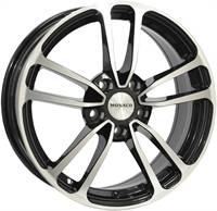 Monaco CL1 Gloss Black & Polished GLOSS BLACK & POLISHED 16""