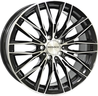Monaco Grandprix 2 Gloss Black & Polished GLOSS BLACK & POLISHED 19""
