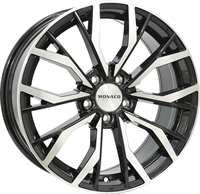 Monaco Grandprix 5 Gloss Black & Polished GLOSS BLACK & POLISHED 19""