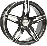 Monaco Grandprix Gloss Black & Polished GLOSS BLACK & POLISHED 17""