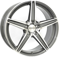 Monaco MC3 Anthracite & Polished ANTHRACITE & POLISHED 18""