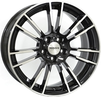 Monaco MC8 Gloss Black & Polished GLOSS BLACK & POLISHED 19""