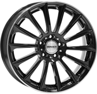 Monaco MC9 Gloss Black & Polished Lip GLOSS BLACK & POLISHED LIP 18""