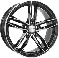 Monaco Rr8m Black & Polished BLACK & POLISHED 17""