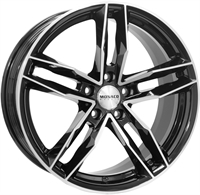 Monaco Rr8m Gloss Black & Polished GLOSS BLACK & POLISHED 17""