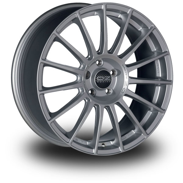 OZ Superturismo LM MATT RACE SILVER BLACK LETTERING 17""